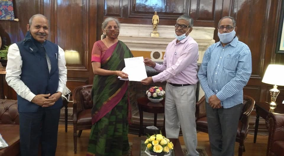 BMS delegation met Hon. Finance Minister on 10th March 2021