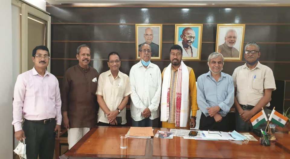 A introductory Meeting with Union Minister of State for Labour & Employment and also Petroleum Shri.Rameswar Teliji was held at his office.